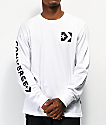 Converse Repeated Star Chevron camiseta blanca de manga larga