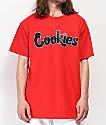 Cookies Hardwood Flava camiseta roja
