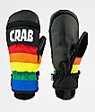 Crab Grab Punch Mitt mitones de snowboard arcoíris
