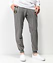 Cross Colours Pinstripe jogger pantalones deportivos grises