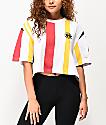 Cross Colours camiseta corta blanca de rayas verticales