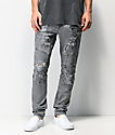 Crysp Denim Montana Grey Skinny Jeans