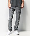 Crysp Denim Montana jeans ajustados grises
