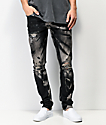 Crysp Denim Pacific jeans ajustados negros destruidos
