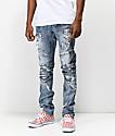 Crysp Montana jeans desgastados azul claro