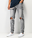 Crysp Pacific Slate Ripped Denim Jeans