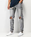 Crysp Pacific Slate jeans de mezclilla desgastados