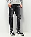 Crysp Pacific jeans ajustados de lavado negro