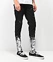 Crysp Pacific jeans negros ajustados con salpicaduras