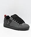 DC Court Graffik Grey & Black Skate Shoes