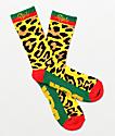 DGK Primo calcetines rojos, verdes y dorados