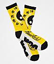 DGK x Bruce Lee Yin Yang Yellow, White & Black Crew Socks