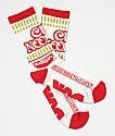 DGK x Cup Noodles calcetines rojos y blancos