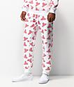 DGK x Cup Noodles pantalones deportivos blancos y rojos