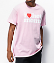 Danny Duncan I Heart Hot Moms Pink T-Shirt
