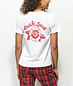 Dark Seas Rose camiseta blanca