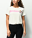 Desert Dreamer Powerpuff Checkered camiseta crema