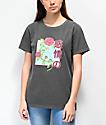 Desert Dreamer Rose Kanji Block Black T-Shirt