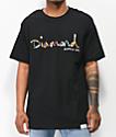 Diamond Supply Co. OG Script Fasten camiseta negra