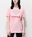 Diamond Supply Co. OG Sign Pink Boyfriend T-Shirt
