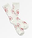 Diamond Supply Co. Outshine White & Red Crew Socks