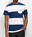 Diamond Supply Co. Script camiseta de rayas azules y blancas