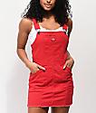 Dickies Bull vestido rojo estilo peto