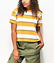 Dickies Tomboy camiseta corta y amarilla de 3 rayas