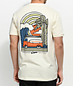 Dravus Coastal Vibes camiseta en color crema
