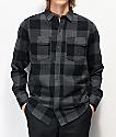 Dravus Travis camisa de franela gris y negra