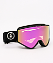 Electric Kleveland Burnt Tort gafas de snowboard de cromo rosa