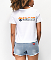 Element Sunset White Crop T-Shirt