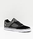 Emerica Reynolds 3 G6 Vulc Black, Charcoal & Grey Skate Shoes