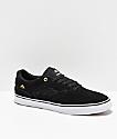Emerica Reynolds Low Vulc zapatos de skate en negro, blanco y dorado