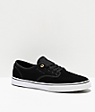 Emerica Wino Standard Black, White & Gold Skate Shoes