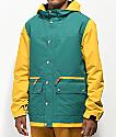 Empyre Banks Varsity Green & Mustard 10K Snowboard Jacket
