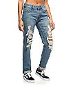 Empyre Easton Med-Wash Shredded Boyfriend Jeans