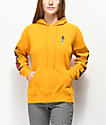 Empyre Fredia Rose Sleeve Yellow Hoodie