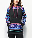 Empyre Frosty Tribal Black & Multicolor Tech Fleece Hoodie