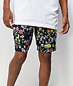Empyre Grom Floral Black Board Shorts