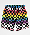 Empyre Grom shorts de baño de cuadros arcoíris