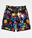 Empyre Grom shorts de baño florales negros