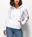 Empyre Keana chaqueta cortavientos blanca y rosa floral