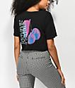 Empyre Kipsy Cherry Femme Black Crop T-Shirt