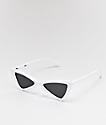 Empyre Mina gafas de sol de pajarita blancas y negras