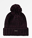 Empyre Morley Fig Purple & Black Pom Beanie