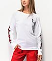 Empyre Rubino Roses camiseta blanca de manga larga