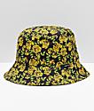 Empyre Secret Garden sombrero de cubo floral amarillo y negro