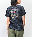 Empyre Sloane Dragon Neutral Black Tie Dye Tie Front T-Shirt