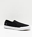 Etnies Langston Slip-On zapatos de skate negros y blancos